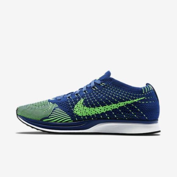 c784477cff7e8 Nike Flyknit Racer Seahawks Brave Running Shoes 10.  M 5c339758fe51513ae817f294